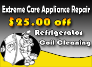 $25 Off Refrigerator Coil Cleaning